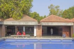 Museo interior de Mahatma Gandhi, Ahmadabad Imagen de archivo libre de regalías