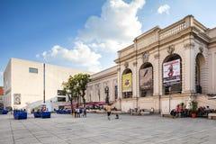 Museo Kunst moderno - museo de Mumok del arte moderno en Viena, Austria. Foto de archivo libre de regalías