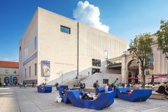 Museo Kunst moderno - museo di Mumok di arte moderna a Vienna, Austria. Fotografia Stock