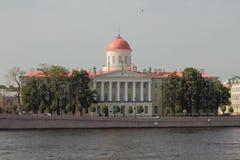Museo literario del instituto de la casa de Pushkin de la literatura rusa St Petersburg, Rusia imagenes de archivo