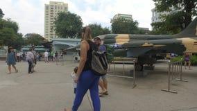 Museo los remanente de la guerra en Ho Chi Minh, Vietnam - timelapse