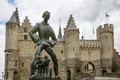 Museo marítimo nacional el Steen en Amberes Bélgica foto de archivo libre de regalías