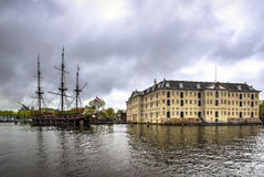 Museo marítimo nacional en Amsterdam, Países Bajos imágenes de archivo libres de regalías