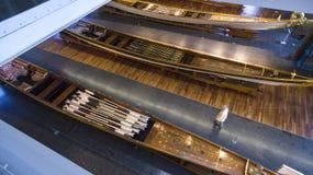 Museo marittimo a Costantinopoli che pugnala i sultani antichi del turco delle barche Immagini Stock Libere da Diritti