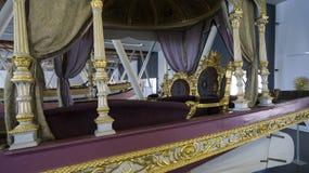Museo marittimo a Costantinopoli che pugnala i sultani antichi del turco delle barche Fotografia Stock Libera da Diritti