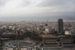 Museo marittimo di vista aerea a Barcellona Fotografia Stock Libera da Diritti