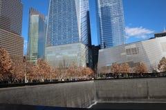 911 museo - monumento del punto cero Imágenes de archivo libres de regalías