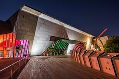Museo Nacional de Australia en la noche Imagenes de archivo