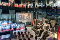Museo Nacional de la visita de los turistas del cine en Turín, Italia imagen de archivo