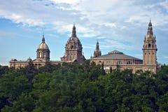 Museo Nacional en Barcelona Imagen de archivo libre de regalías