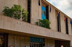Museo natural de Smithsonian de la entrada americana de la historia a construir imagenes de archivo