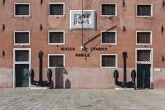Museo naval de la historia, frente del edificio, Venecia, Italia Imágenes de archivo libres de regalías