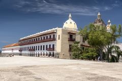 Museo Naval del Caribe, Cartagena. Museo Naval Del Caribe, a museum with exhibits on the Colombian Navy, plus the history & culture of the region Carrera 4 royalty free stock photography