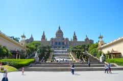 Museo nazionale del catalano a Barcellona, Spagna il 22 giugno 2016 Il museo è alloggiato nel Nac di Palau Fotografia Stock