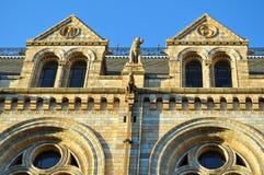 Museo nazionale di storia: particolari delle finestre, Londra Immagine Stock