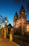 Museo nazionale di storia: vista della facciata di notte, Londra fotografie stock libere da diritti