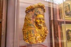 Museo nazionale Expans di Il Cairo dedicato nell'egitto antico, i Pharaohs, le mummie e le piramidi egiziane fotografia stock