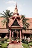 Museo nazionale nella pagoda dell'argento di Royal Palace di festa dell'indipendenza della Cambogia Immagini Stock Libere da Diritti