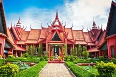 Museo nazionale in Phnom Penh, Cambogia Immagini Stock Libere da Diritti