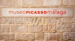 Museo Picasso MÃ ¡ laga Arkivbilder