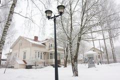 Museo radiofonico all'inverno in Kouvola, Finlandia 08 12 2016 fotografia stock libera da diritti