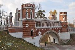 Museo-reserva Tsaritsyno Puente de lujo Foto de archivo