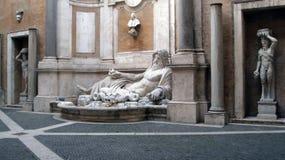 Museo Roma di Capitoline della statua di Nettuno Fotografia Stock Libera da Diritti