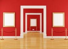 Museo rosso Fotografia Stock Libera da Diritti
