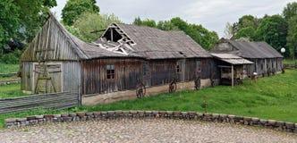 Museo rurale di retro attrezzatura agricola Fotografia Stock