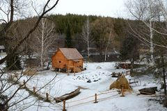 Museo rurale 'mulino a acqua' di vita Fotografia Stock Libera da Diritti