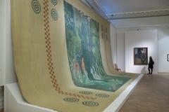 Museo ruso Espectadores en pinturas de Leon Bakst Imagen de archivo libre de regalías