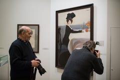 Museo ruso Espectadores en pinturas de Leon Bakst Imagen de archivo