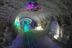 Museo in sotterraneo dello strato di ghiaccio permanente a Jakutsk Russia Fotografia Stock Libera da Diritti