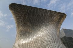CIUDAD DE MEXICO - MEXICO: NOVEMBER, 2016: View of Soumaya Museum of plaza Carso. royalty free stock images