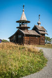 Museo storico ed architettonico del campanile, in Kizhi, Carelia Immagini Stock Libere da Diritti