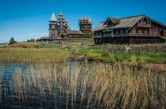 Museo storico ed architettonico in Kizhi, Carelia Fotografia Stock Libera da Diritti