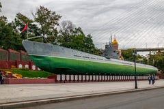 Museo submarino conmemorativo S-56 en Vladivostok, Primorsky Krai en Rusia foto de archivo
