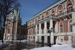 Museo Tsaritsyno. Fragmento del palacio magnífico. Imagen de archivo