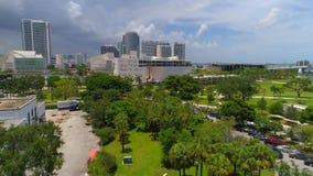 Museo video aéreo de Frost de la ciencia Miami céntrica almacen de video