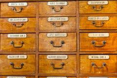 Museo viejo de la farmacia Foto de archivo libre de regalías