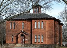 Museo viejo de la historia de la colonia en Taunton, Massachusetts, fotografía de archivo