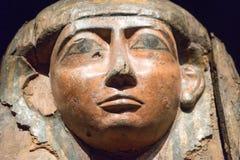Museo y Art Gallery Egyptian Mummy Sacrophagus tasmanos Imagenes de archivo