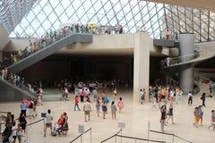 Museo y galería del Louvre Imagen de archivo libre de regalías