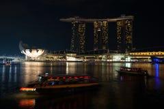 Museo y Marina Bay Sands de ArtScience en Singapur Imagen de archivo libre de regalías