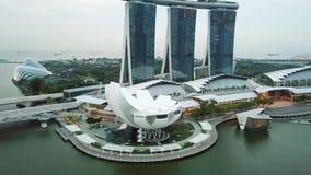Museo y Marina Bay Sands Hotel de Artscience almacen de video