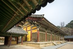 Museoljeon hall i bulguksatempel royaltyfria foton