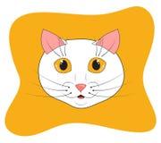 Museruola bianca del gatto immagini stock libere da diritti