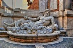 Museu antigo de Capitoline da estátua de Netuno roma fotografia de stock