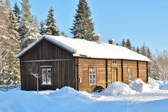 Museu ao ar livre Hägnan em Gammelstad Imagem de Stock Royalty Free