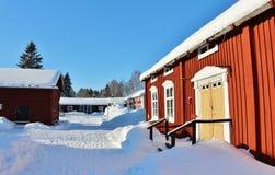 Museu ao ar livre Hägnan em Gammelstad Imagem de Stock